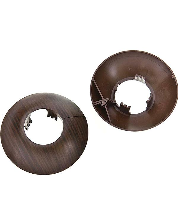 Накладка декоративная на трубу d=26 мм венге (2 шт)
