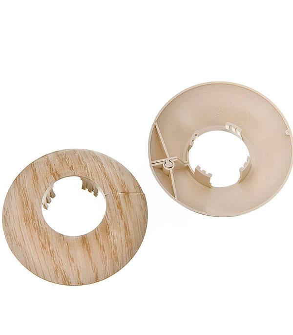 Накладка декоративная на трубу d=26 мм дуб беленый (2 шт)