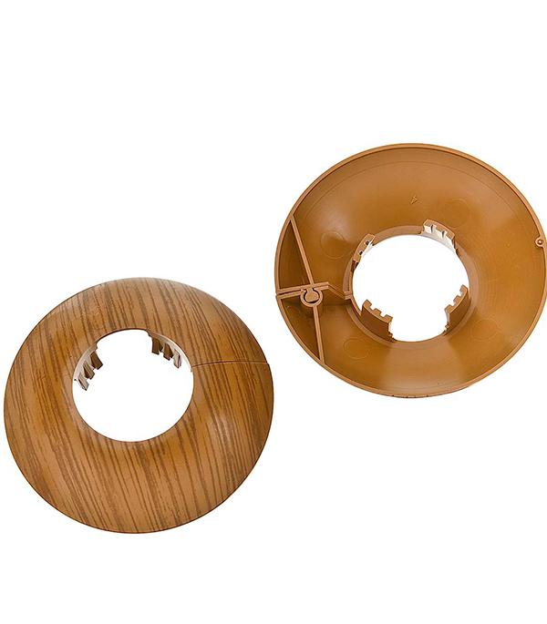 Накладка декоративная на трубу d=26 мм дуб темный (2 шт)