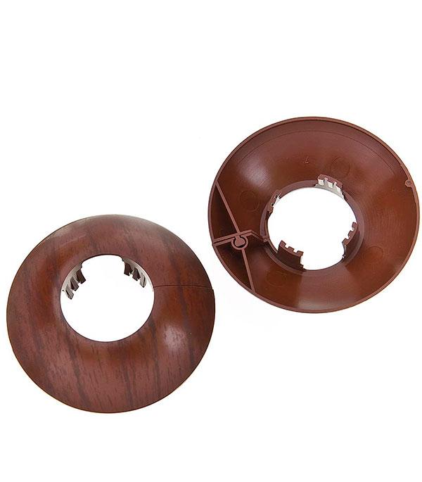 Накладка декоративная на трубу d=26 мм махагон (2 шт)