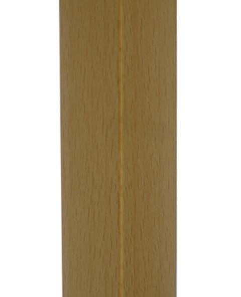 Уголок пластиковый универсальный  гибкий 20х20х2700 мм бук благородный 130
