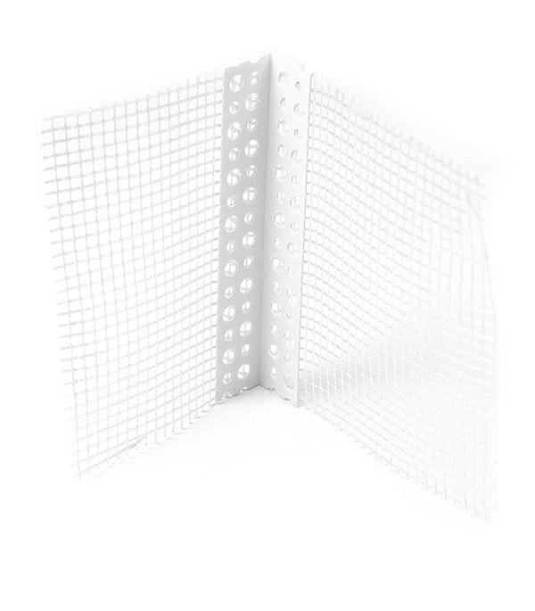 Профиль углозащитный перфорированный (пластиковый, с сеткой) 100х150 мм, 2,5 м