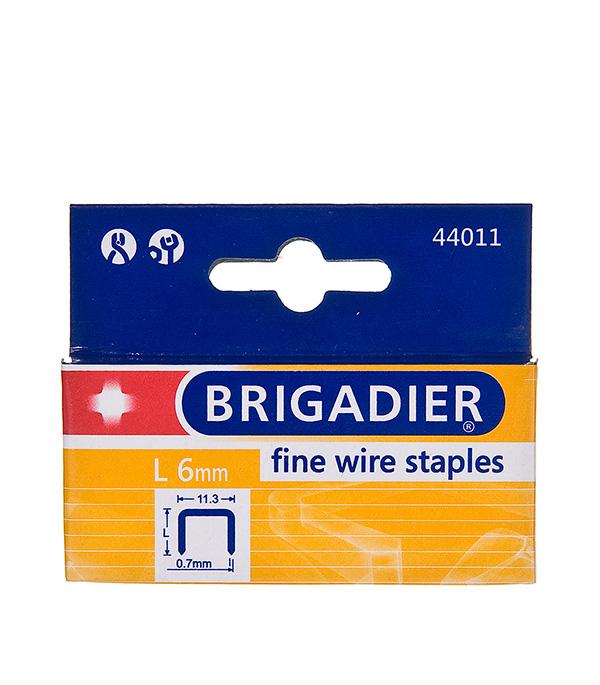 Скобы для степлера Brigadier 6 мм тип 53 (11.3х0.7) П-образные (1000 шт)
