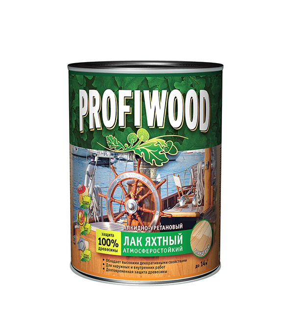 Лак яхтный алкидно-уретановый Profiwood глянцевый 2,4 кг
