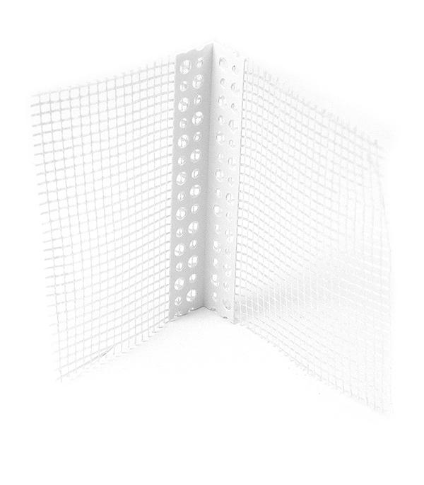Профиль углозащитный перфорированный (пластиковый, с сеткой) 100х150 мм, 3 м