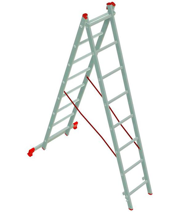 Лестница 2-х секционная 2х8 Новая высота Эконом