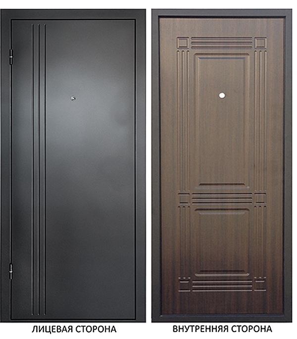 Дверь металлическая ДК Лайн 860x2050 мм правая , без цилиндра и ручки