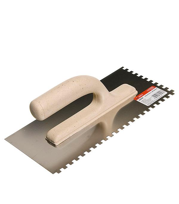 Гладилка зубчатая 270х130 мм зуб 6х6 мм с облегченной ручкой Corte цены