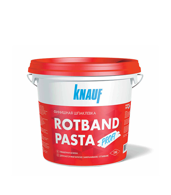 Шпатлевка финишная Ротбанд паста Профи Кнауф 5 кг