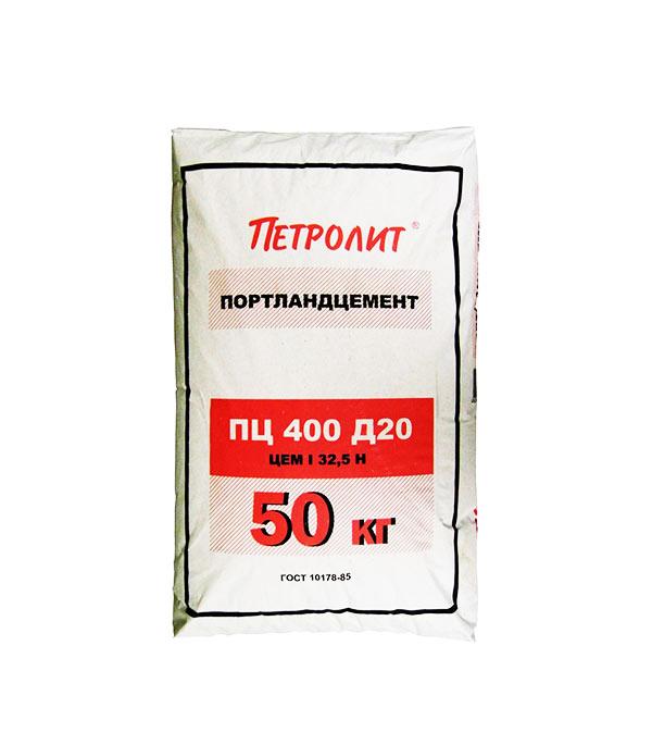 Цемент   М400 Д20 (ЦЕМ II А-Ш 32,5), 50 кг Петролит