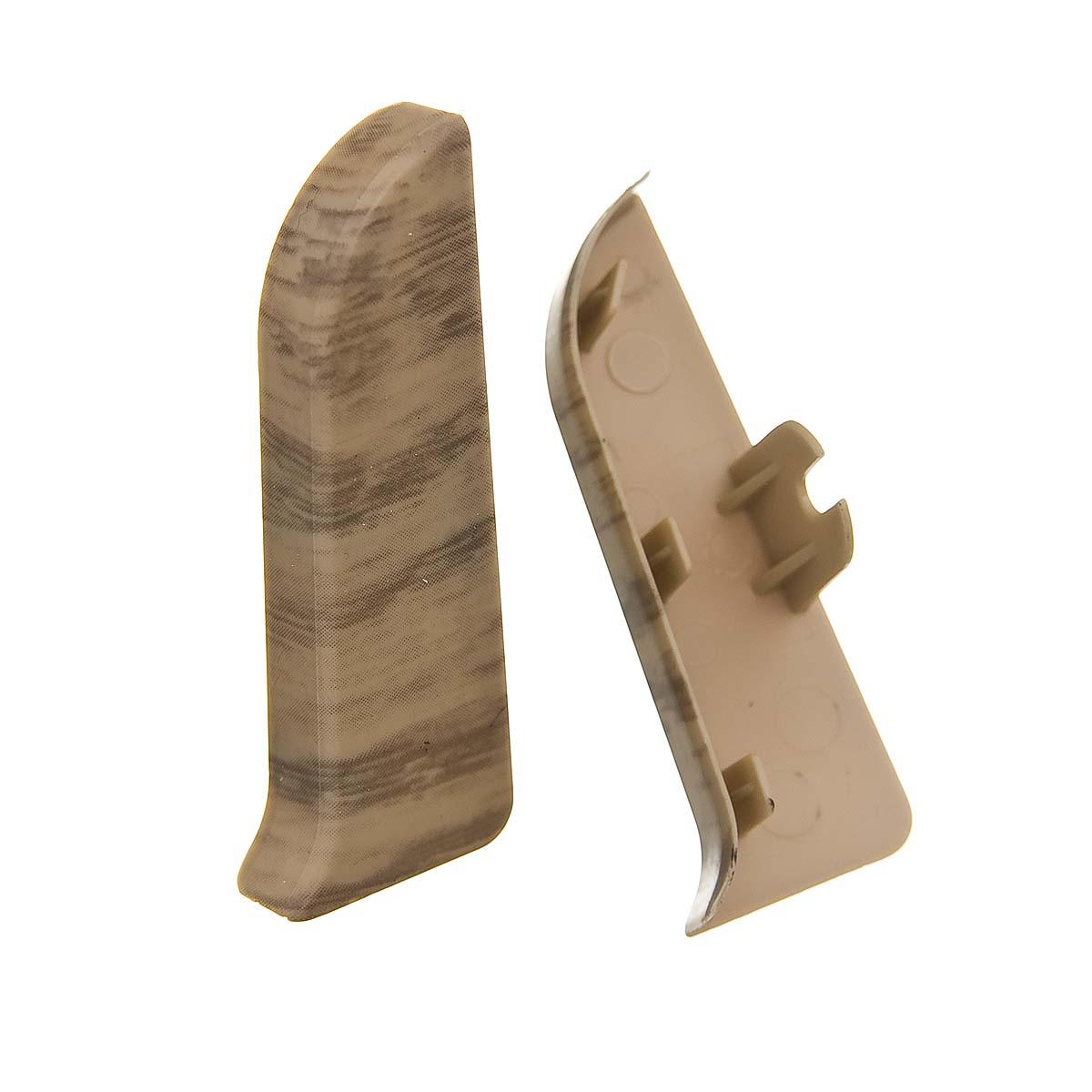 Заглушки торцевые (левая+правая) к плинтусу 68 мм дуб северный Nexus