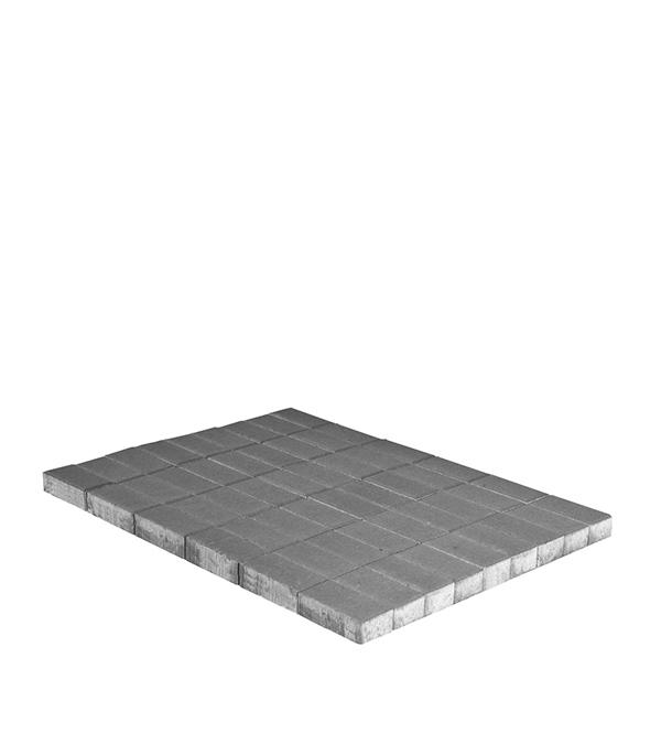 Плитка тротуарная Прямоугольник 200х100х40 мм серая