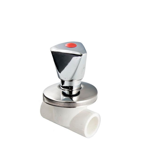 Вентиль полипропиленовый хромированный 20 мм Valtec счетчики на воду valtec в невинномысске