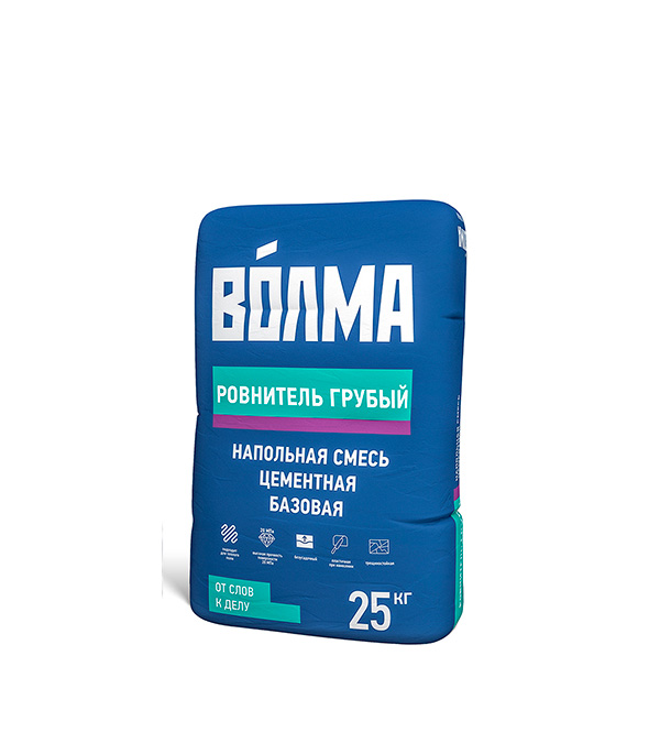 Ровнитель для пола ВОЛМА-Ровнитель грубый 25 кг  ровнитель д пола реал м300 литой бетон 25 кг