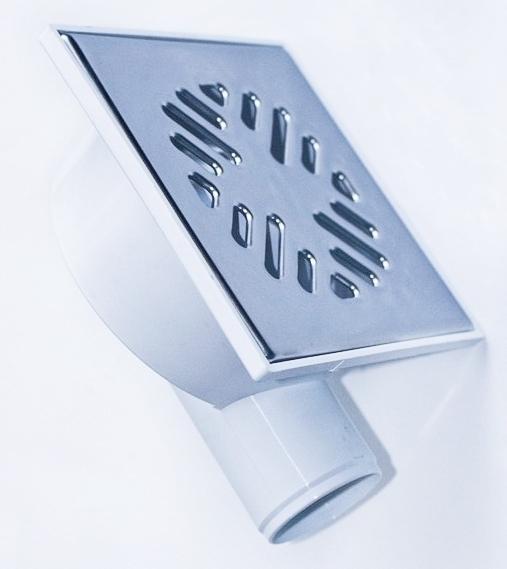 Трап угловой решетка сталь 150х150, 50 мм (гидрозатвор) ТП