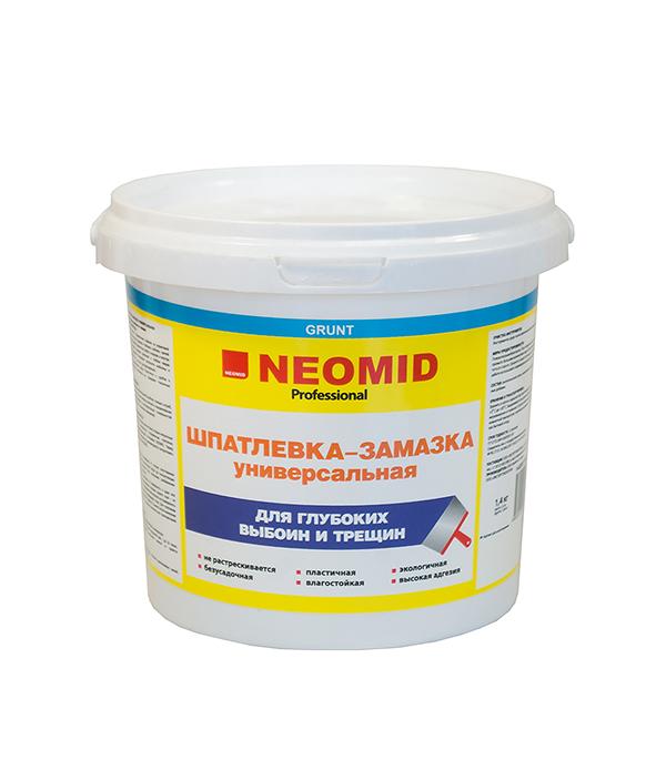 Шпатлевка-замазка NEOMID универсальная 1.4 кг шпатлевка neomid по монтажной пене 5 кг