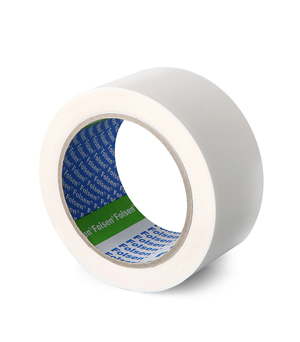 Лента Folsen для заклейки окон белая 48 мм х 66 м лента клейкая двусторонняя folsen ткань 50мм х 5м