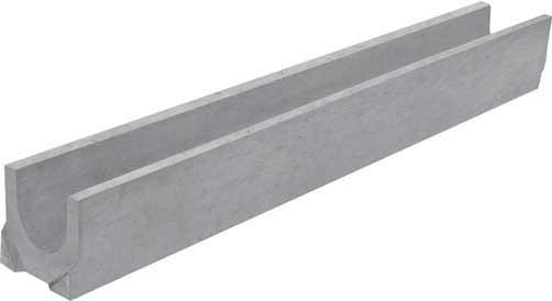 Лоток водоотводный Gidrolica 1000х140х125 мм бетонный решетка водоприемная 1000х136 мм стальная оцинкованная гидролика