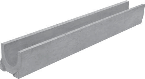 Лоток водоотводный, 1000х140х125 мм, бетонный Гидролика