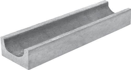Лоток водоотводный, 500х140х60 мм, бетонный Гидролика