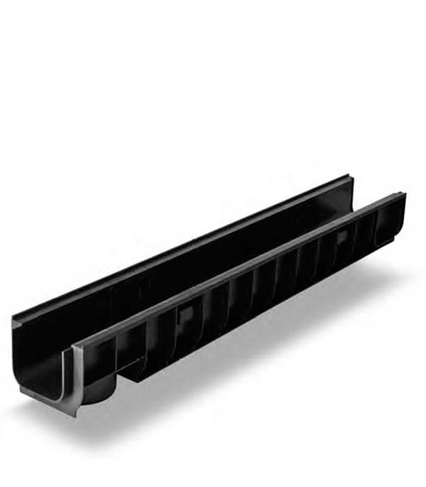 Лоток водоотводный Gidrolica 1000х145х100 мм пластиковый решетка водоприемная 1000х136 мм стальная оцинкованная гидролика