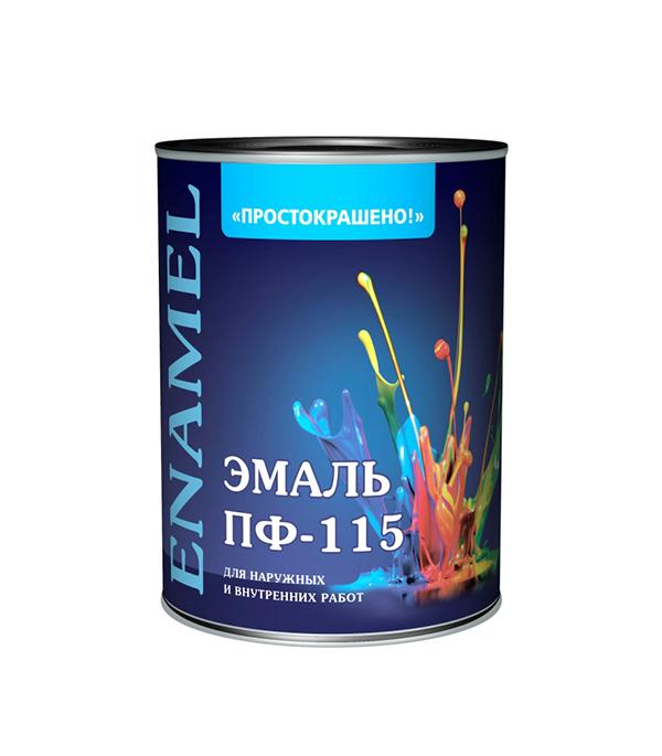 Эмаль ПФ-115 черная Простокрашено Empils 0,9 кг эмаль пф в уфе