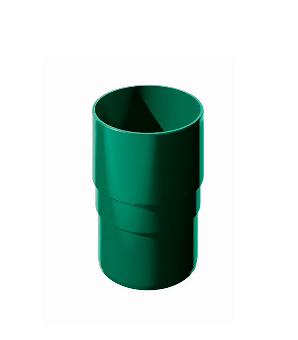Муфта водосточной трубы пластиковая d82  мм зеленая Технониколь