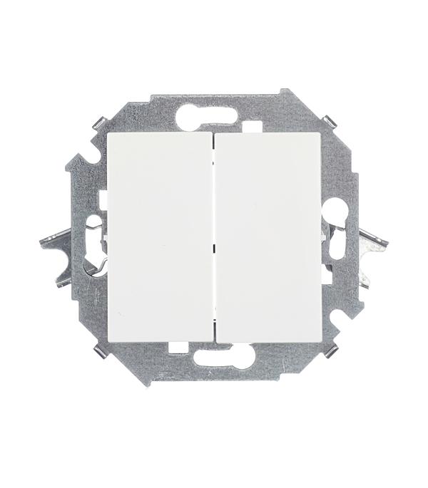 Механизм выключателя (переключатель) двухклавишного проходного , 16А, Simon 15, белый