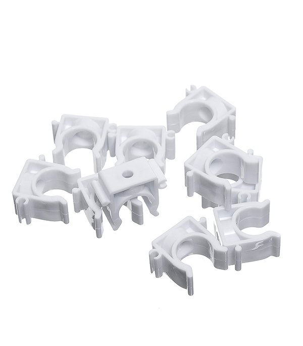 Фиксатор для металлопластиковых труб 20 мм (10 шт) держатель с защелкой для труб экопласт d32 мм 10 шт