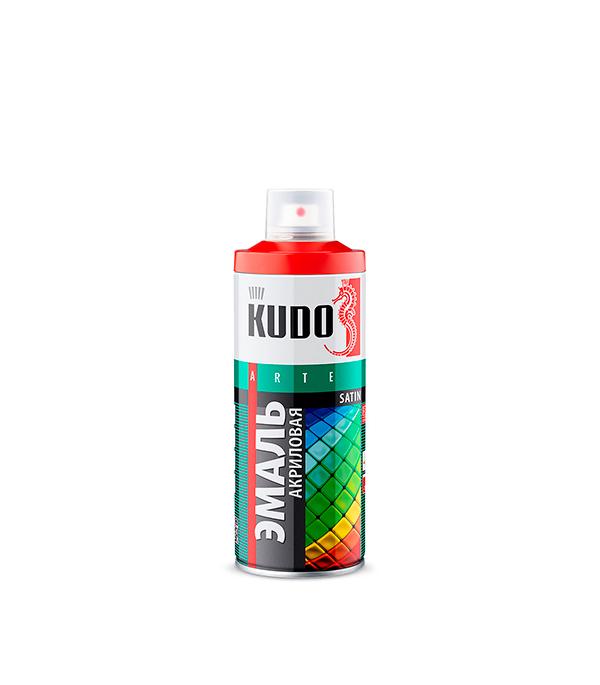 Эмаль акриловая аэрозольная Kudo satin Ral 2001 оранжевая 520 мл эмаль акриловая лакра для пола золотисто кор 2 4кг