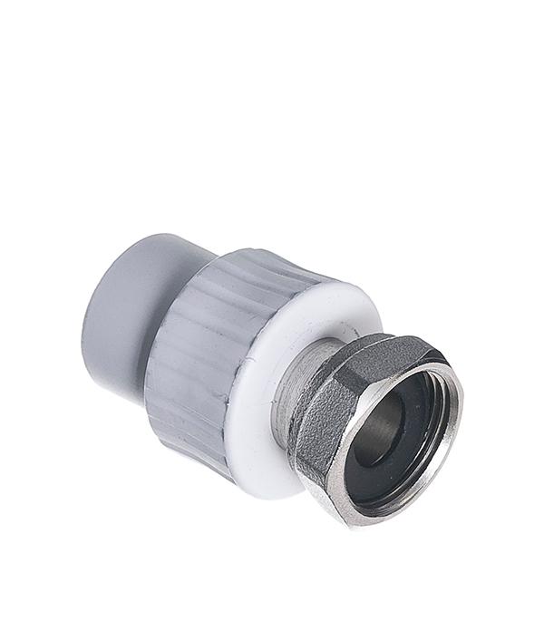 Муфта полипропиленовая с накидной гайкой РТП 20х3/4 ВР кран шаровой компрессионный 20х3 4 вр ртп