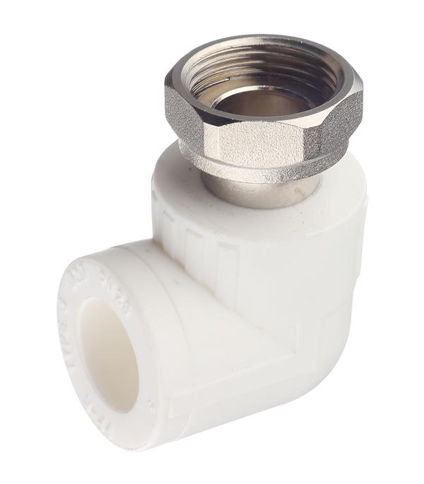 Угол полипропиленовый с накидной гайкой РТП 20х3/4 ВР кран шаровой компрессионный 20х3 4 вр ртп
