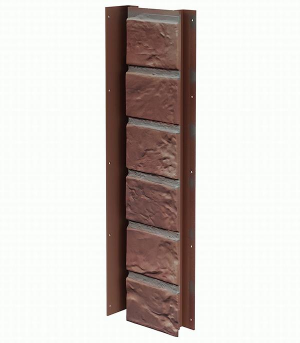 Фасадный угол внутренний (универсальная планка) Vox 121х420 мм Кирпич цвет HOLLAND / ГОЛЛАНДИЯ
