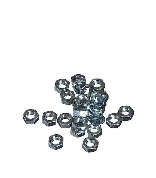 Гайки оцинкованные   М4 DIN 934 (25 шт)