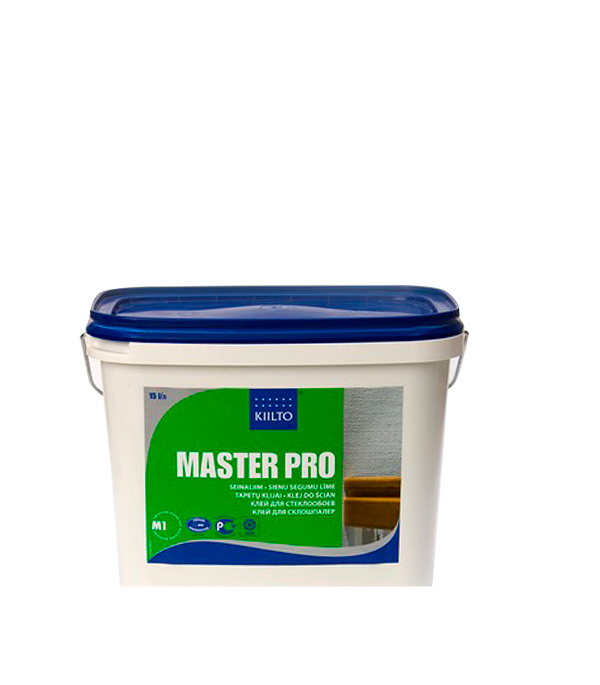 Клей Kiilto Master Pro для стеклообоев 15 л готовый клей quelyd optima для стеклообоев 15 л готовый