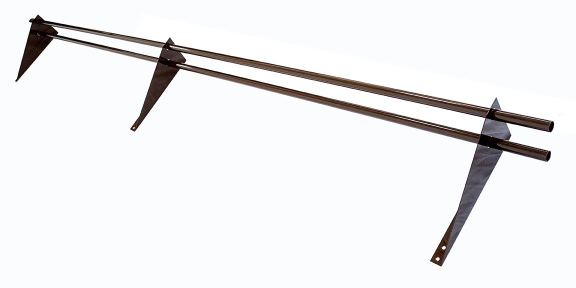 Снегозадержатель трубчатый 3 м коричневый RAL 8017