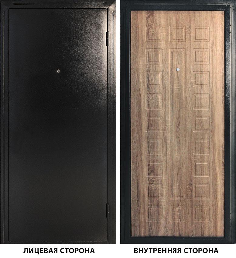 Дверь металлическая ДК Оптима 860x2050 мм правая, без цилиндра и ручки