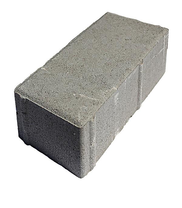 Плитка тротуарная Брусчатка (кирпичик) 100х200х80 мм серая