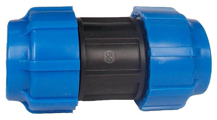 Муфта ПНД компрессионная 50х50 мм