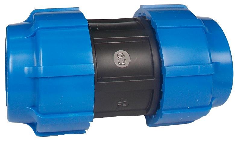 Муфта ПНД компрессионная 63х63 мм