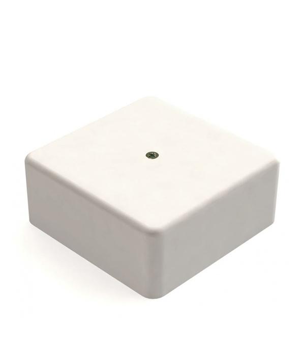 Коробка для кабель-каналов с клем. колодкой, 75х75х20 мм, белая, IP40