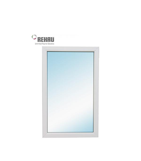 Окно металлопластиковое REHAU 1000х600 мм белое глухое окно металлопластиковое rehau 1440х1160 мм белое 2 створки поворотно откидное правое поворотное