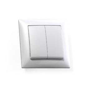 Выключатель Селена 2-кл. белый, 250В 10А