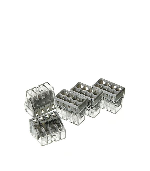 Зажим (клемма) на 8 проводов (0,5-2,5 мм.кв) с пастой, (5 шт), Wago