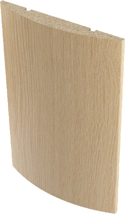 Наличник ламинированный полукруглый Верда Беленый дуб 10х70 мм