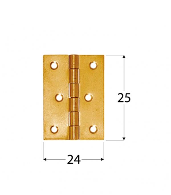 Петля карточная 8011 25х24 мм желтые