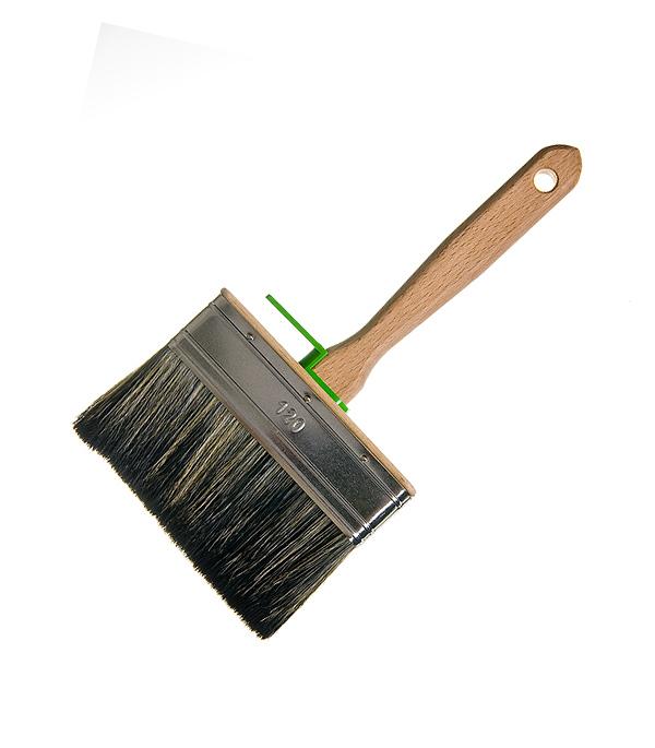 Кисть плоская 120х25 мм смешанная щетина деревянная ручка Лазурный берег Профи