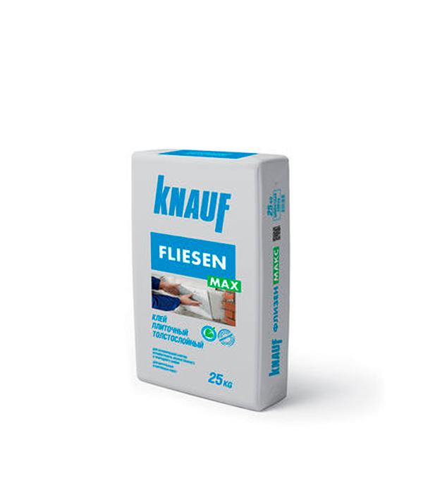 Кнауф-Флизен Макс толстослойный (клей для плитки и керамогранита), 25 кг стяжка пола стройбриг цемерин fc40 для толстослойного выравнивания 25 кг