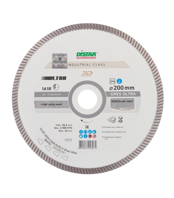 Диск алмазный турбо 200x25.4 DI-STAR диск алмазный турбо с лазерной перфорацией 230х22 2 мм gross 73034