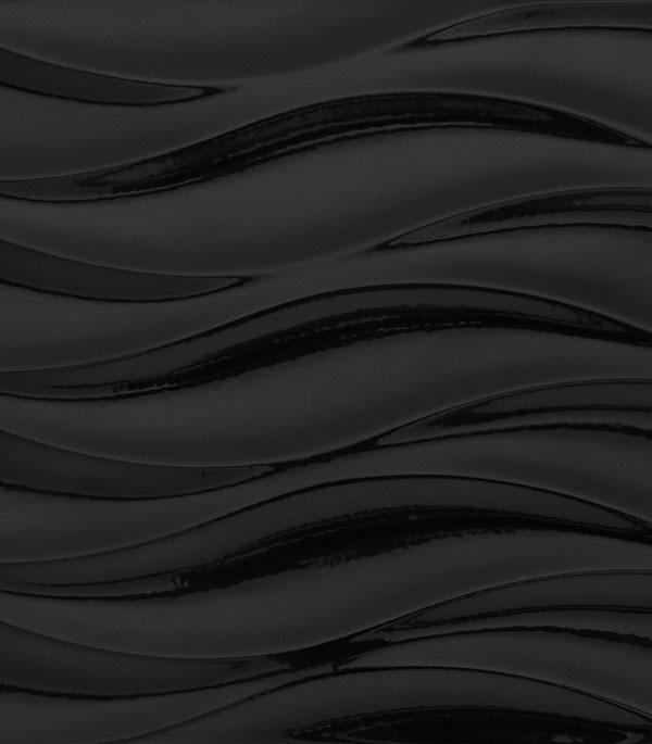 Плитка облицовочная 200х440х8,5 мм Вейв Блэк Флауэрс темно-серый рельеф (12ш=1,05 кв.м)